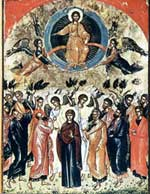 The Ascension of Our Lord Jesus Christ. Greece. XVI century